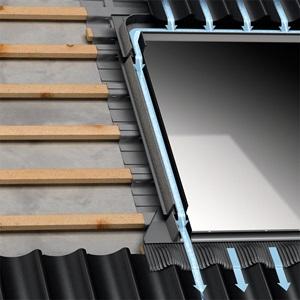 velux anschlussprodukte f r dachfensteranschluss und. Black Bedroom Furniture Sets. Home Design Ideas