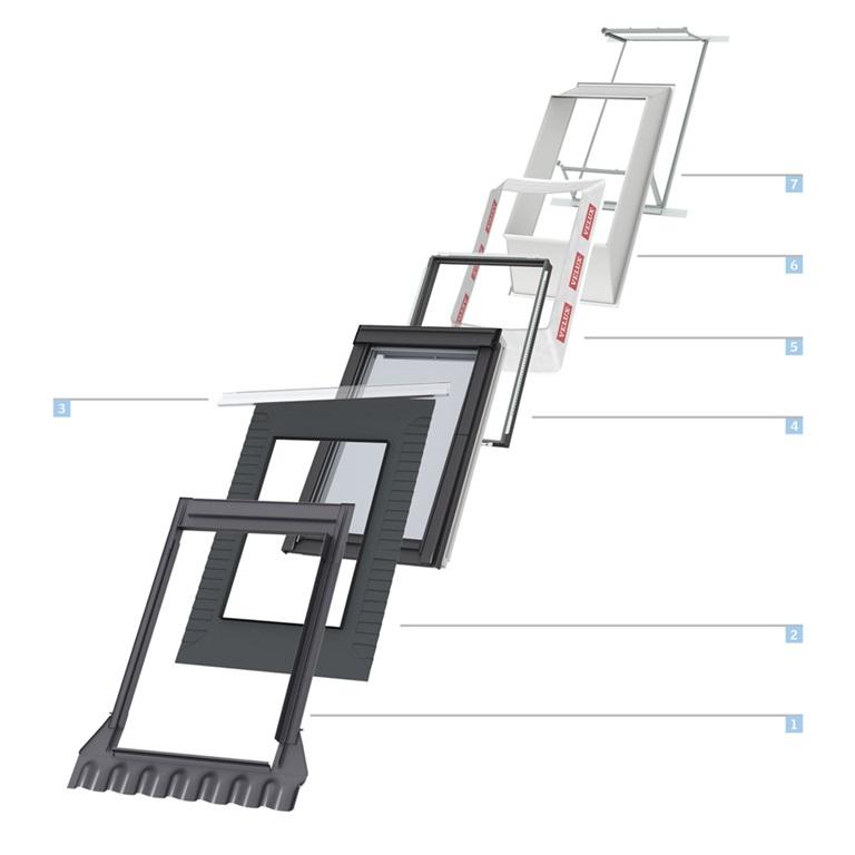 dachd mmung mit eindeckrahmen und anschlussprodukten. Black Bedroom Furniture Sets. Home Design Ideas