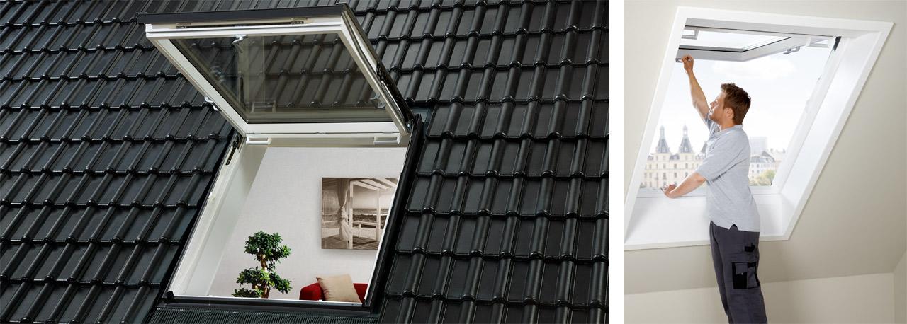 velux wohn und ausstiegsfenster mit klappschwingfunktion gtu gtl. Black Bedroom Furniture Sets. Home Design Ideas