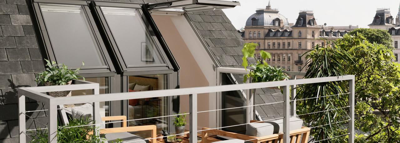 VELUX Dachbalkon (Dachloggia)  Raum für Wohnideen