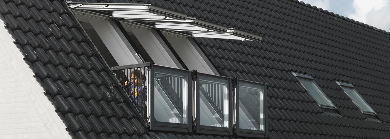 Vom fenster zum dachbalkon oder dachaustritt velux - Velux dachfenster einbauen ...