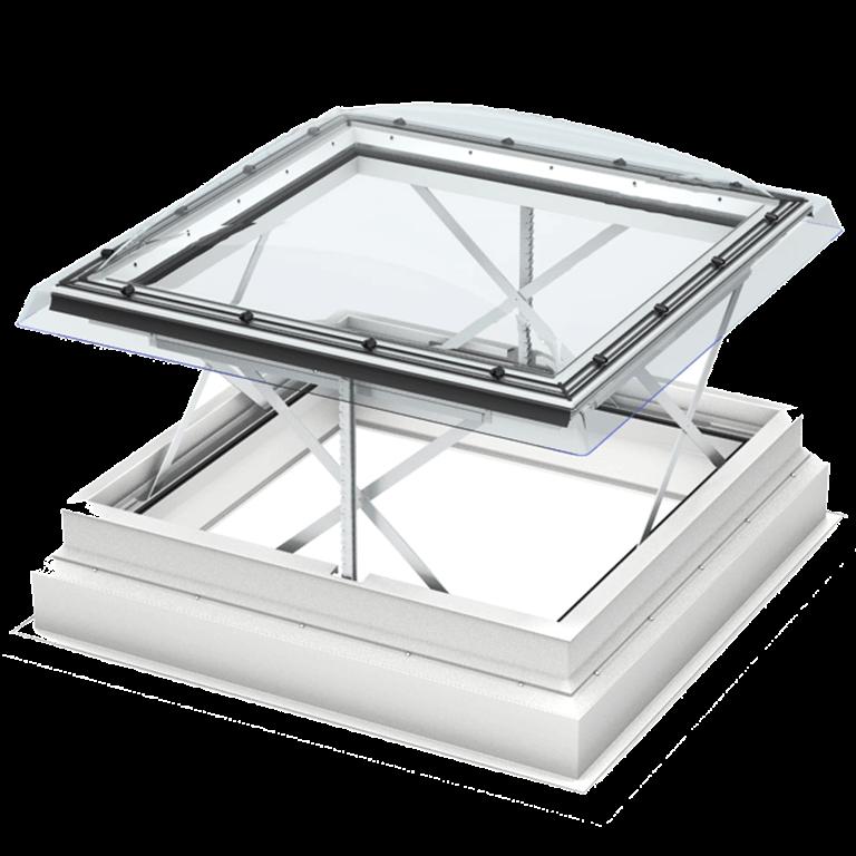 Velux dachausstieg f r das flachdach dachausstiegsfenster - Velux fenster einstellen ...
